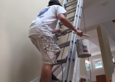Adam on ladder